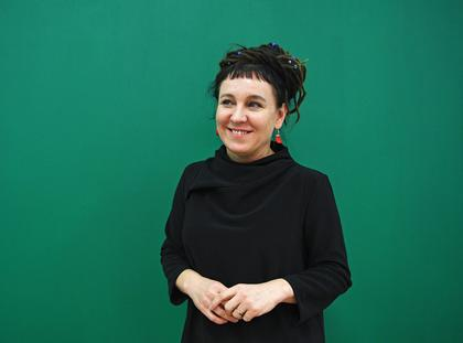 Polish writer Olga Tokarczuk in London