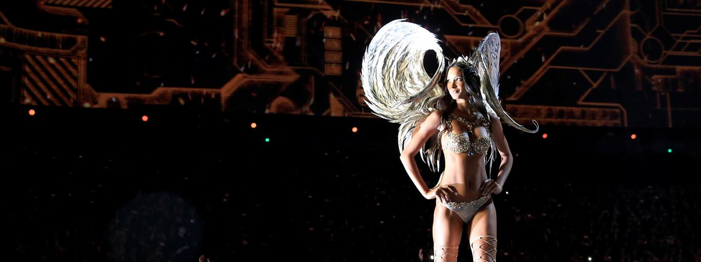 Model Lais Ribeiro presents a creation during the 2017 Victoria's Secret Fashion Show in Shanghai