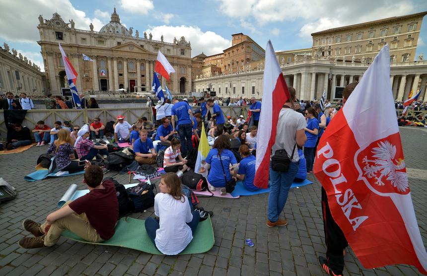 Pielgrzymi z Polski przy Bazylice św. Piotra