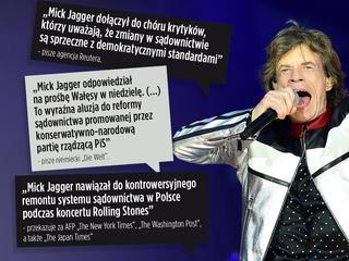 """""""Jestem za stary, by być sędzią"""". Światowe media komentują słowa Micka Jaggera w Polsce"""