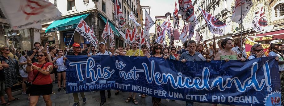 Venetians Protest Against Excessive Tourism And Big Cruises