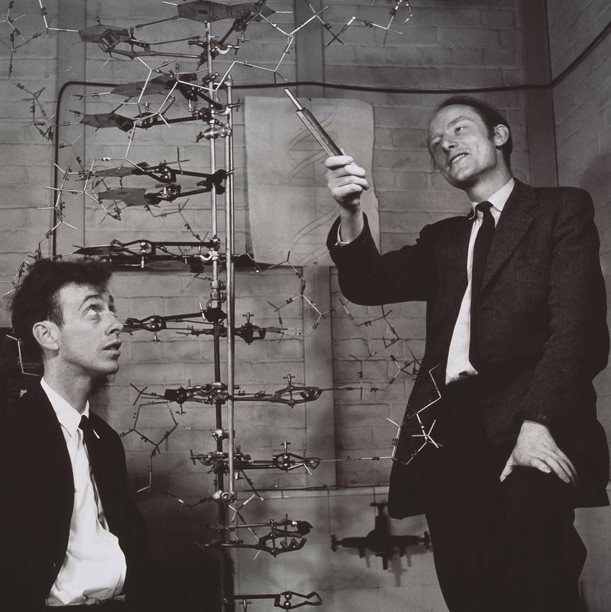 James Watson i Francis Crick, którzy otrzymali Nobla za stworzenie modelu DNA