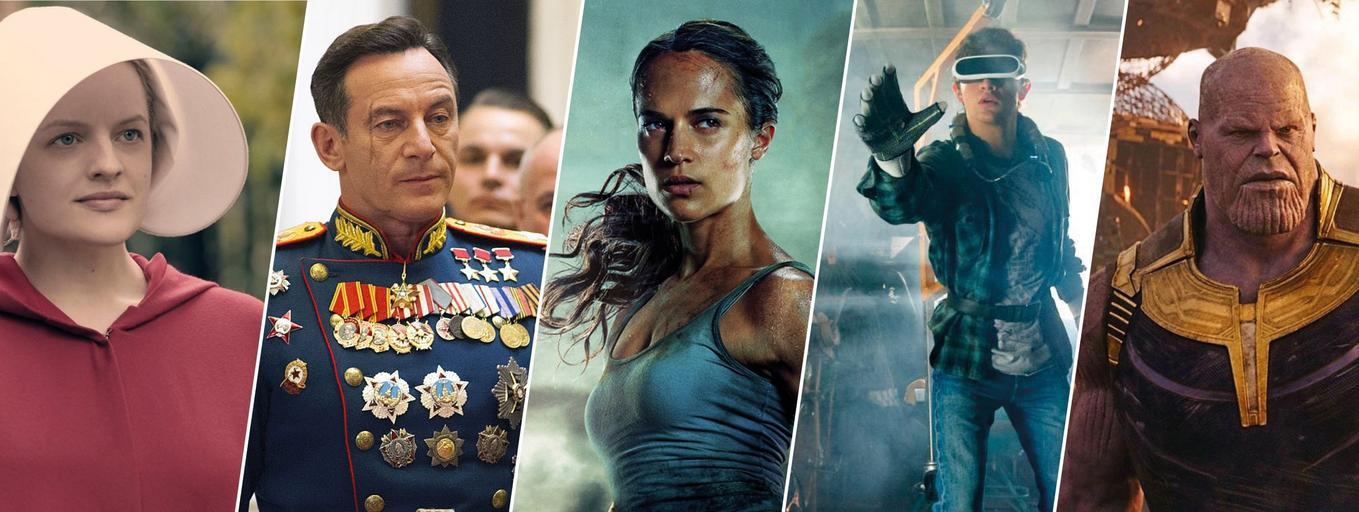 Opowieść podręcznej, Śmierć Stalina, Tomb Raider, Player One, Avengers