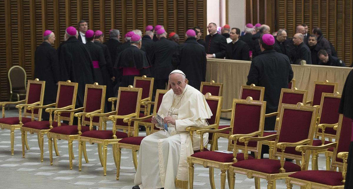 Pope Francis in Paul VI Hall