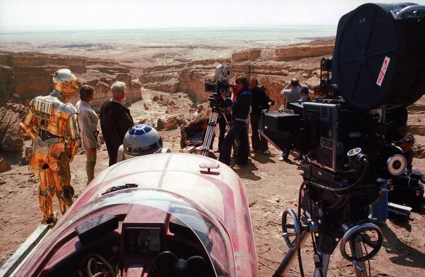 Dolina Sidi Bouhel. Ekipa filmowa w czasie kręcenia