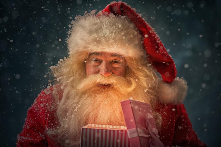 Święty Mikołaj, prezent, prezenty Święta bożego narodzenia