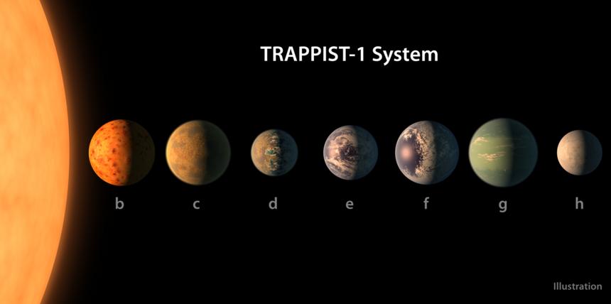 Planety mają rozmiary Ziemi i Wenus lub są nieco mniejsze. Wyznaczenia ich gęstości sugerują z kolei, że przynajmniej sześć z siedmiu planet jest skalista.