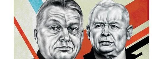 """Kaczyński i Orban na okładce magazynu """"POLITICO Europe""""."""