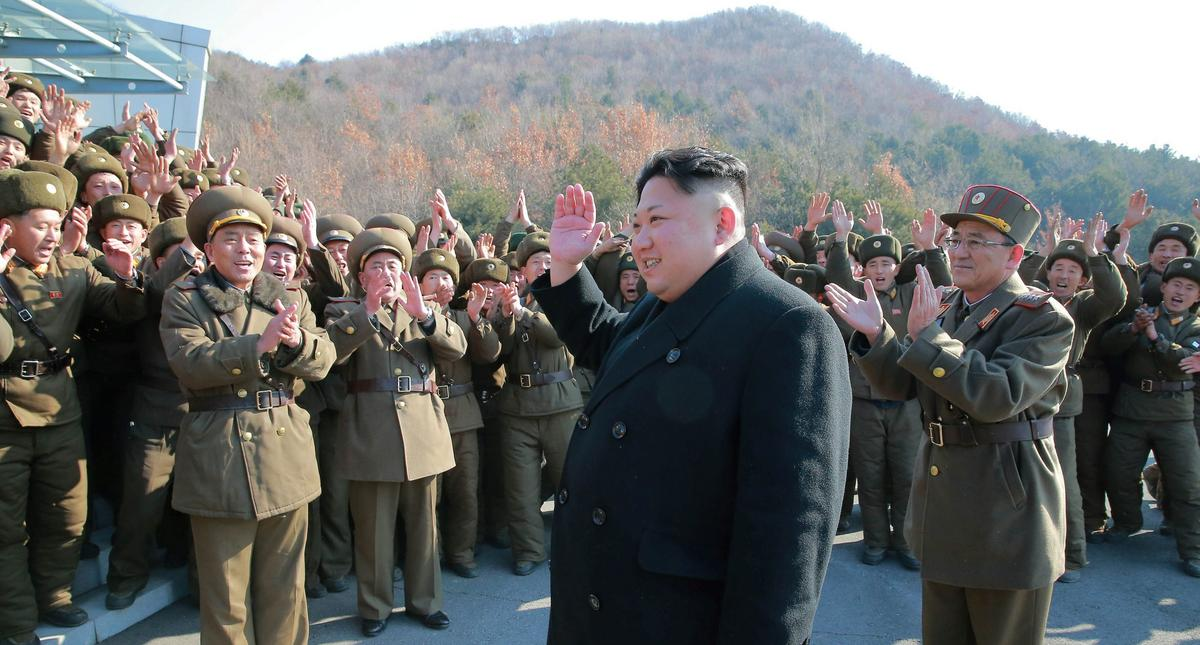 North Korean leader Kim Jong Un supervised a ballistic rocket launching drill of Hwasong artillery u