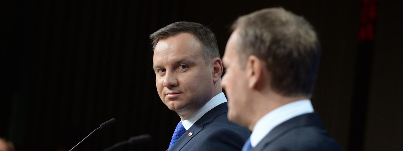 Andrzej Duda Donald Tusk polityka PiS Prawo i Sprawiedliwość
