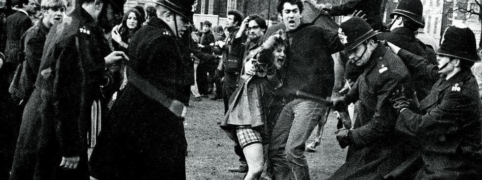 Londyn 1968, protesty