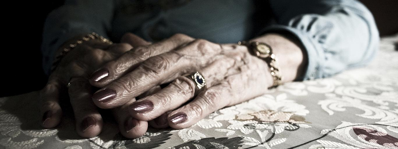 Close-up of a senior woman's hands, Buenos Aires, Argentina
