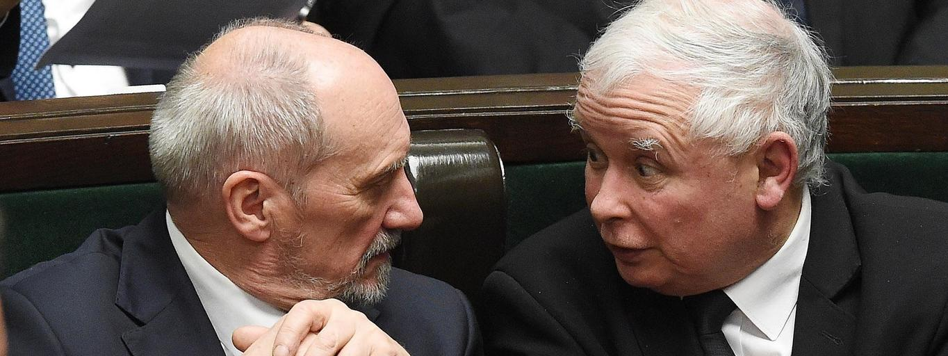 Antoni Macierewicz Jarosław Kaczyński PiS polityka Prawo i Sprawiedliwość Sejm