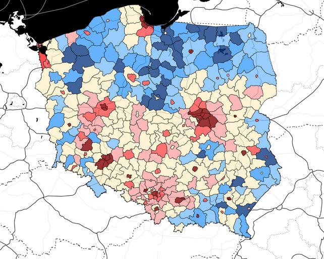 mapa bieda w polsce