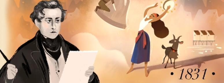 google Doodle, victor hugo