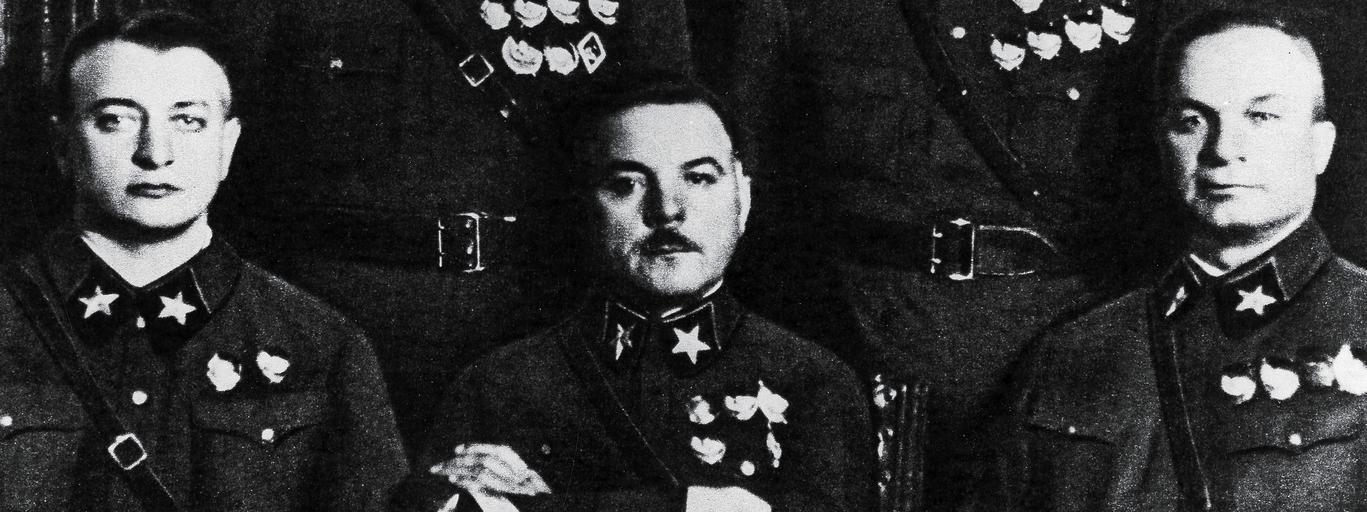 Michaił Tuchaczewski, Kliment Woroszyłow, Aleksandr Jegorow, Siemion Budionny, Wasilij Blücher