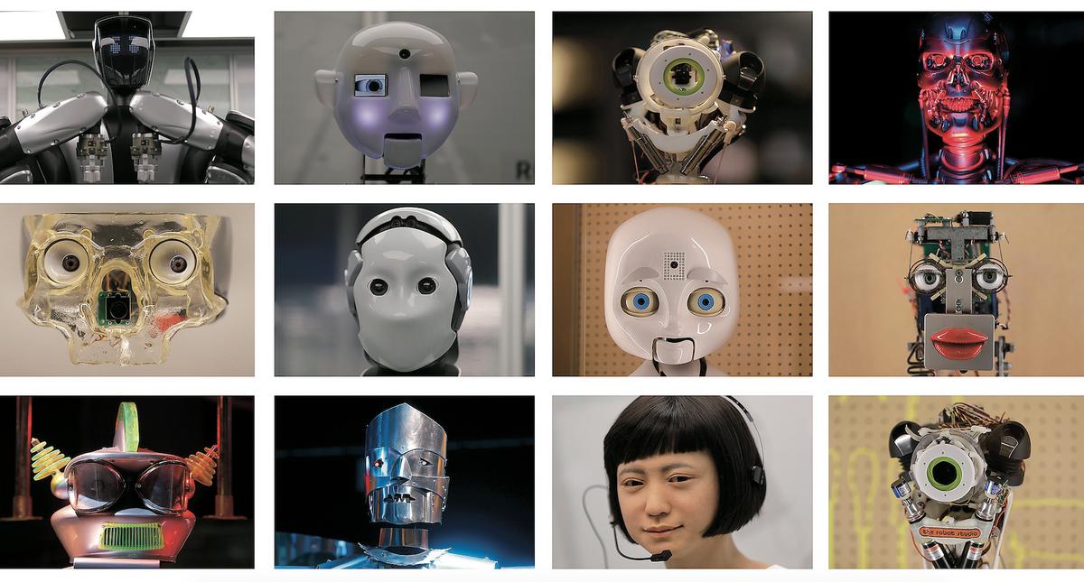 Twarze robotów w Muzeum Nauki w Londynie