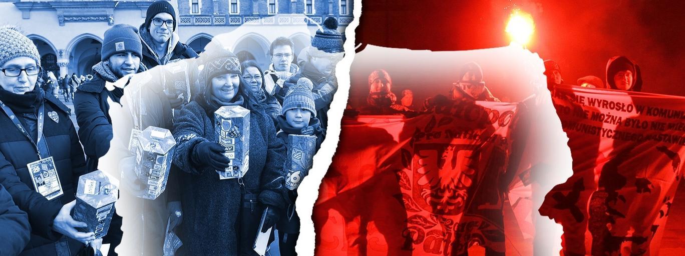WOŚP kibole dwie polski