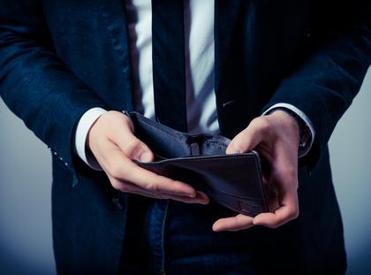 portfel, deficyt budżetowy, budżet, brak pieniędzy