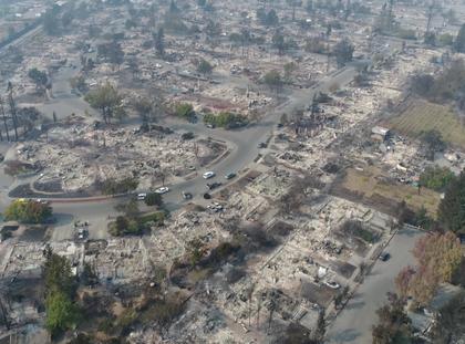 Santa Rosa, Kalifornia po pożarach