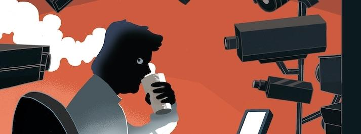 Inwigilacja, kamery, laptop