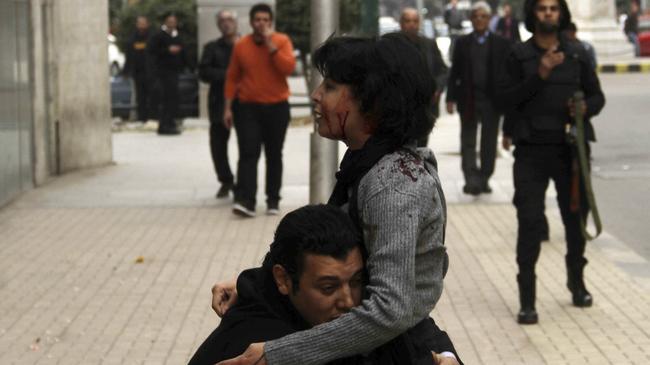 egipt demonstrantka