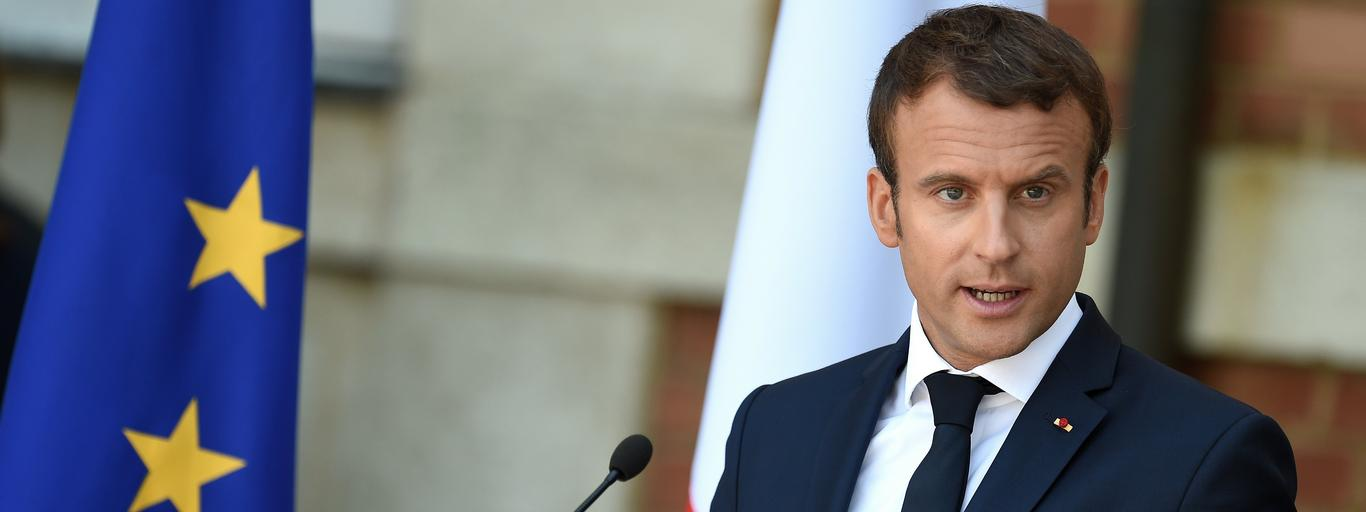 The Pesident of France Emmanuel Macron visits in Bulgaria.