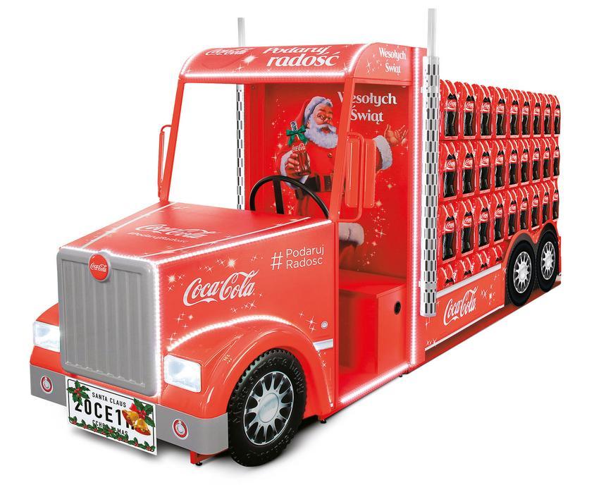 Ciężarówka w stylu vintage – jedna z wielokrotnie nagradzanych realizacji ATS Display: Coca-Cola X-mas Truck.