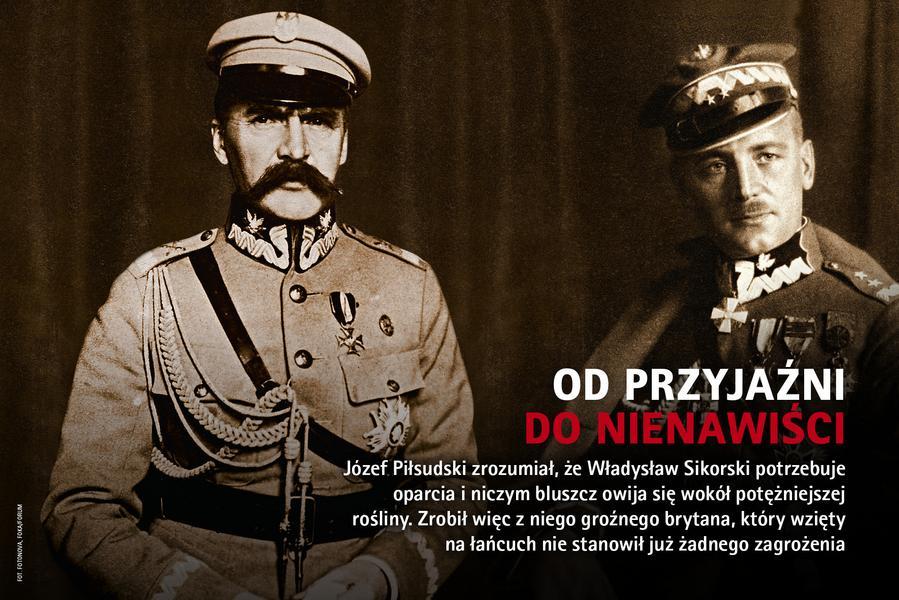 newsweek historia 4/2017 Józef Piłsudski Władysław Sikorski