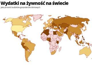 W którym kraju na jedzenie wydaje się najmniej?