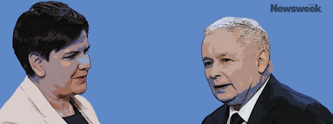 Jarosław Kaczyński Beata Szydło PiS polityka Prawo i Sprawiedliwość