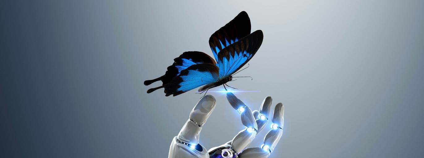 Robot chwyta motyla