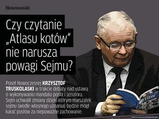 """""""Czy czytanie atlasu kotów nie narusza powagi Sejmu?"""" [CYTATY TYGODNIA]"""
