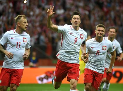 Robert Lewandowski Karol Linetty Kamil Grosicki