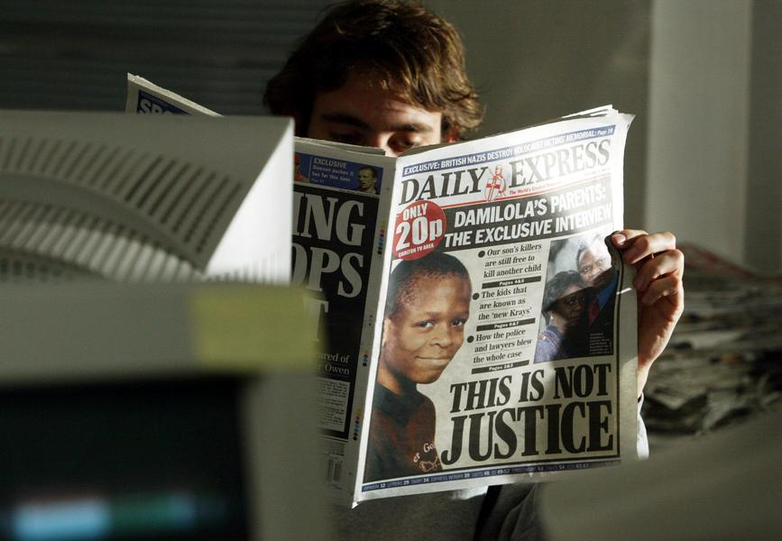 BRITAIN-DAMILOLA FRONT PAGES