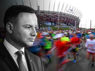 Andrzej Duda objął patronatem Maraton Warszawski. Uczestnicy rezygnują z biegu