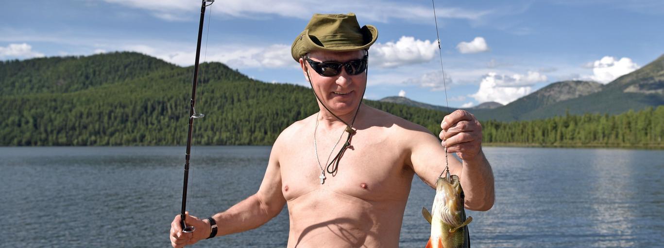 Russian President Vladimir Putin on vacation in Republic of Tyva
