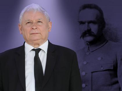 Józef Piłsudski Jarosław Kaczyński