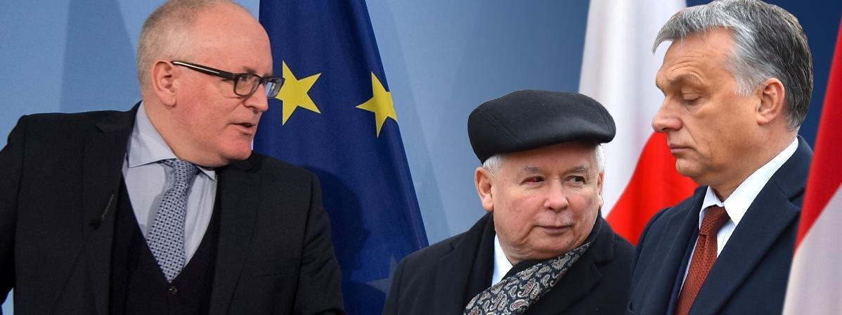 Frans Timmermans, Jarosław Kaczyński, Viktor Orban