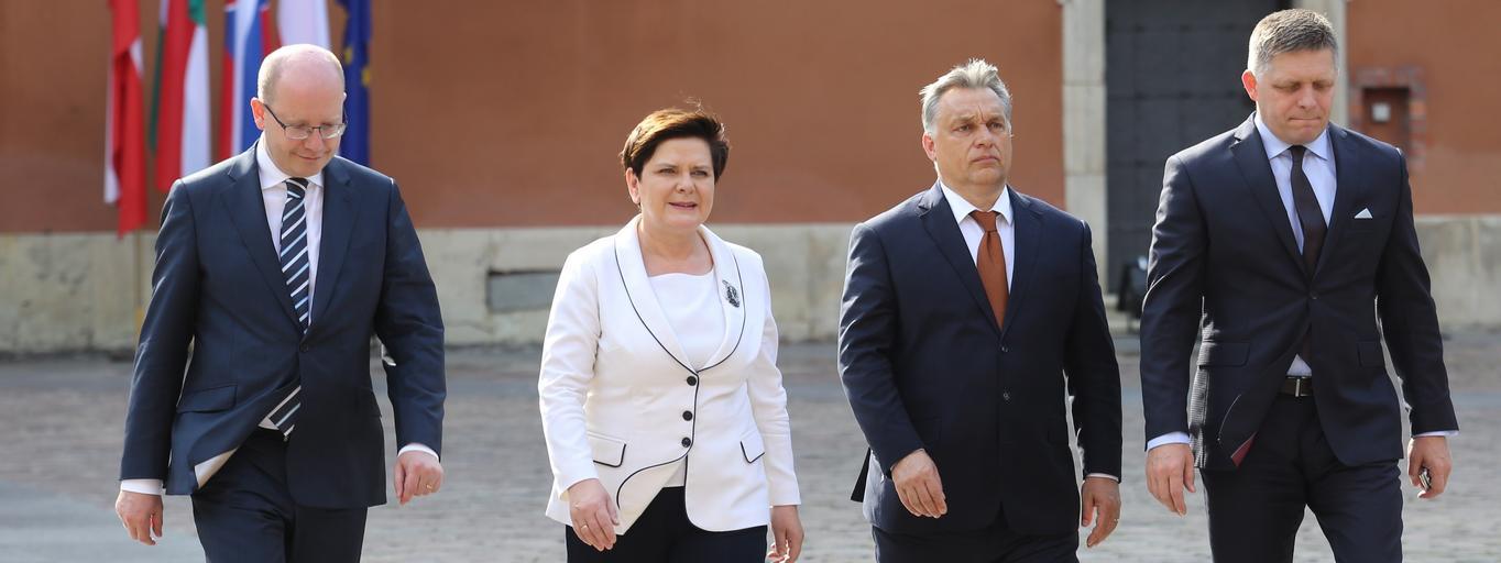 Bohuslav Sobotka, Beata Szydło, Viktor Orban, Robert Fico