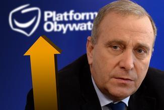 Nagły wzrost Platformy w sondażach zmartwił Schetynę