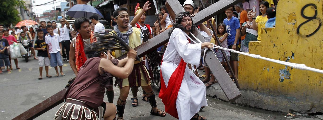 Fotografia zdjęcia Filipiny Wielkanoc droga krzyżowa