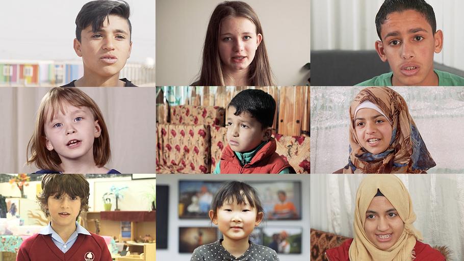 Dzieci biorące udział w badaniu World Vision