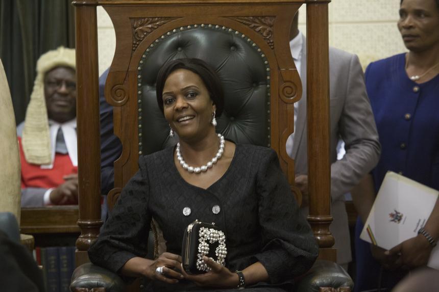 Żona prezydenta Grace Mugabe.