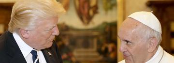 Donald Trump papież Franciszek