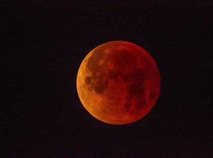 księżyć zaćmienie krwawy księżyc Super Blue Blood Moon over San Diego