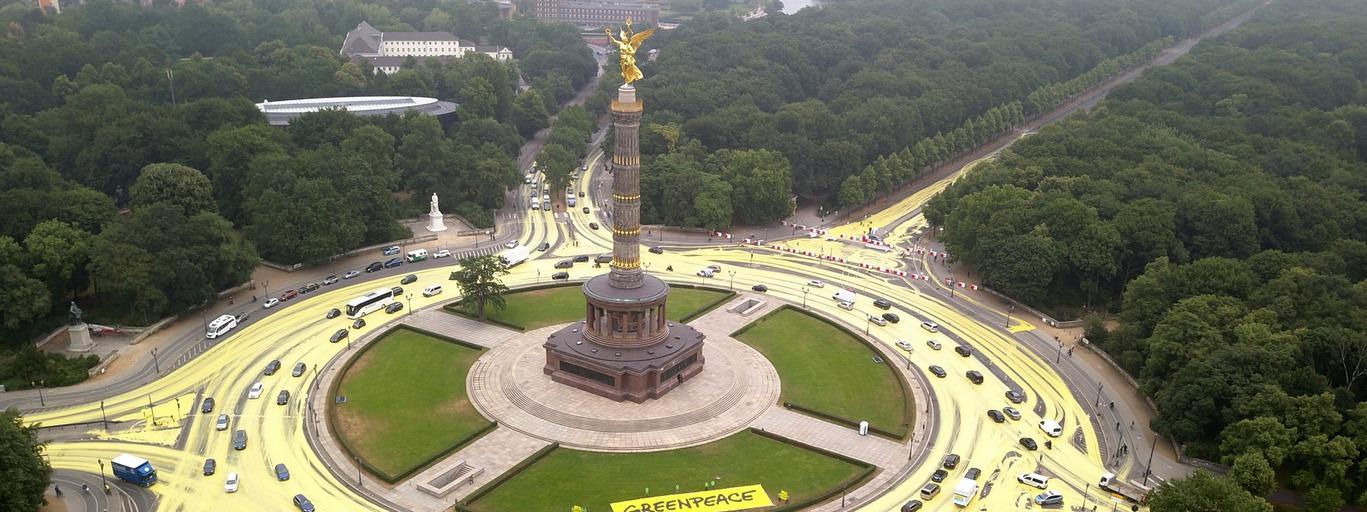 Greenpeace protest in Berlin