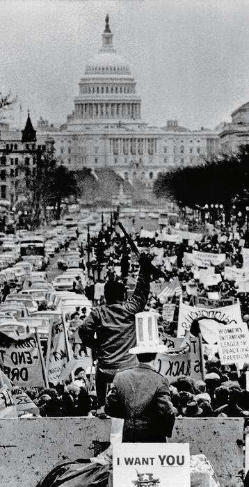 manifestacja przeciw Richardowi Nixonowi, USA