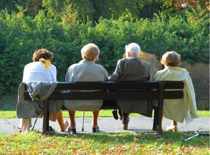 Emerytura starość ławka