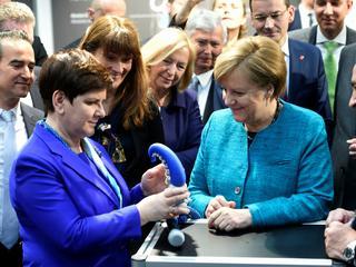 Tak premier Beata Szydło promuje polski przemysł w Niemczech